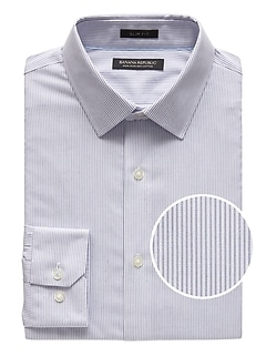 Grant Slim-Fit Non-Iron Stripe Dress Shirt