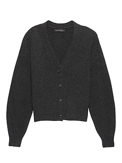 JAPAN EXCLUSIVE Blouson-Sleeve Cardigan Sweater