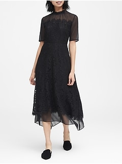 JAPAN EXCLUSIVE Lace Handkerchief Hem Dress