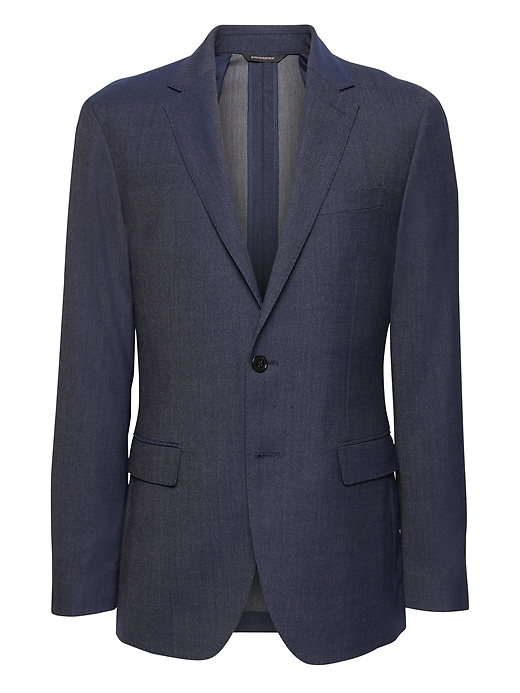 Slim Smart-Weight Performance Wool Blend Suit Jacket