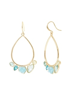 Soft Stones Hoop Earrings
