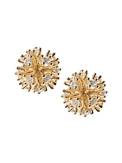Delicate Fireball Stud Earrings