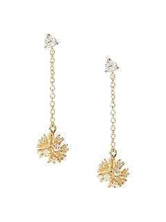 Delicate Fireball Linear Earrings