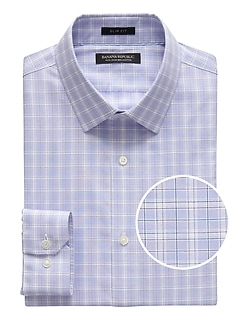 Grant Slim-Fit Non-Iron Plaid Shirt