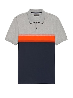 Luxury-Touch Performance Chest Stripe Polo