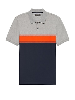 Slim Luxury-Touch Performance Chest Stripe Polo