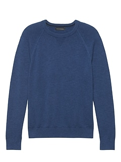 Textured Cotton Crew-Neck Sweater