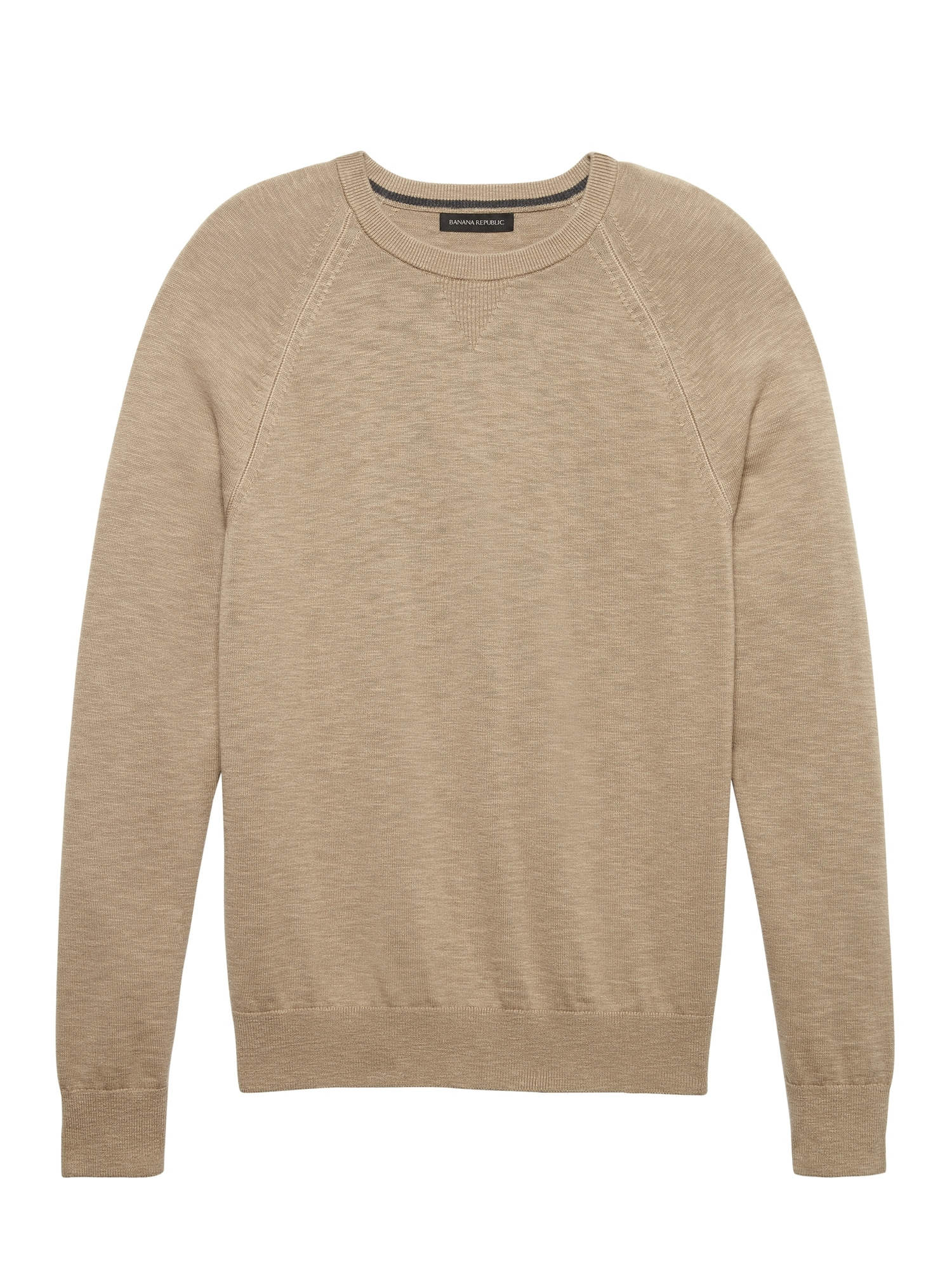 Textured Cotton Crew-Neck Sweater  61e6df9eb