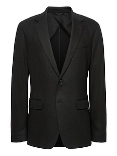 Slim Solid Italian Motion-Stretch Blazer