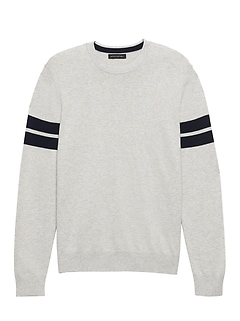 Silk Cotton Cashmere Varsity Sweater