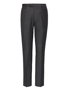 Slim Italian Wool Nailhead Suit Pant