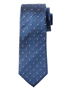 Herringbone Dot Silk Nanotex® Tie
