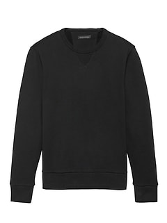 French Terry Long-Sleeve Crew-Neck Sweatshirt