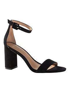 Bare High Block-Heel Sandal