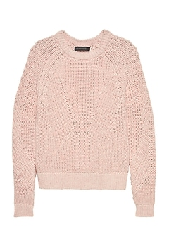 Chunky Cotton Crew-Neck Sweater