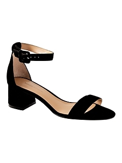 Bare Low Block-Heel Sandal