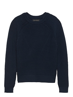 Chunky Ribbed Crew-Neck Sweater