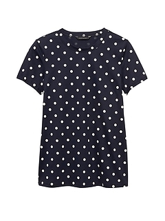 SUPIMA® Cotton Polka Dot T-Shirt