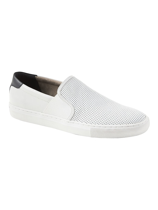 Dylin Perforated Leather Slip-On Sneaker
