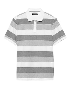 Luxury-Touch Performance Stripe Polo