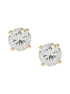 Oversized Cubic Zirconia Stud Earrings