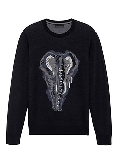 Elephant Graphic Sweater