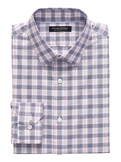 Camden Standard-Fit Non-Iron Plaid Dress Shirt