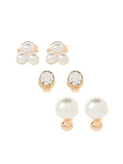 Pearl Multi Stud Earrings Set