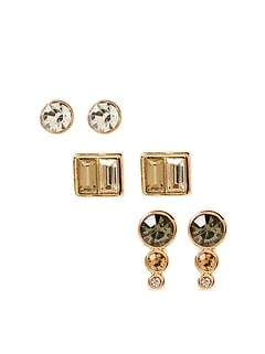 Gold Multi Stud Earrings Set