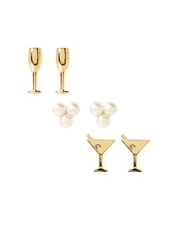 Drink Party Stud Earrings Set
