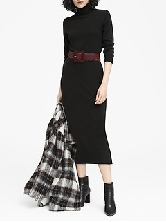 JAPAN EXCLUSIVE Turtleneck Sweater Dress