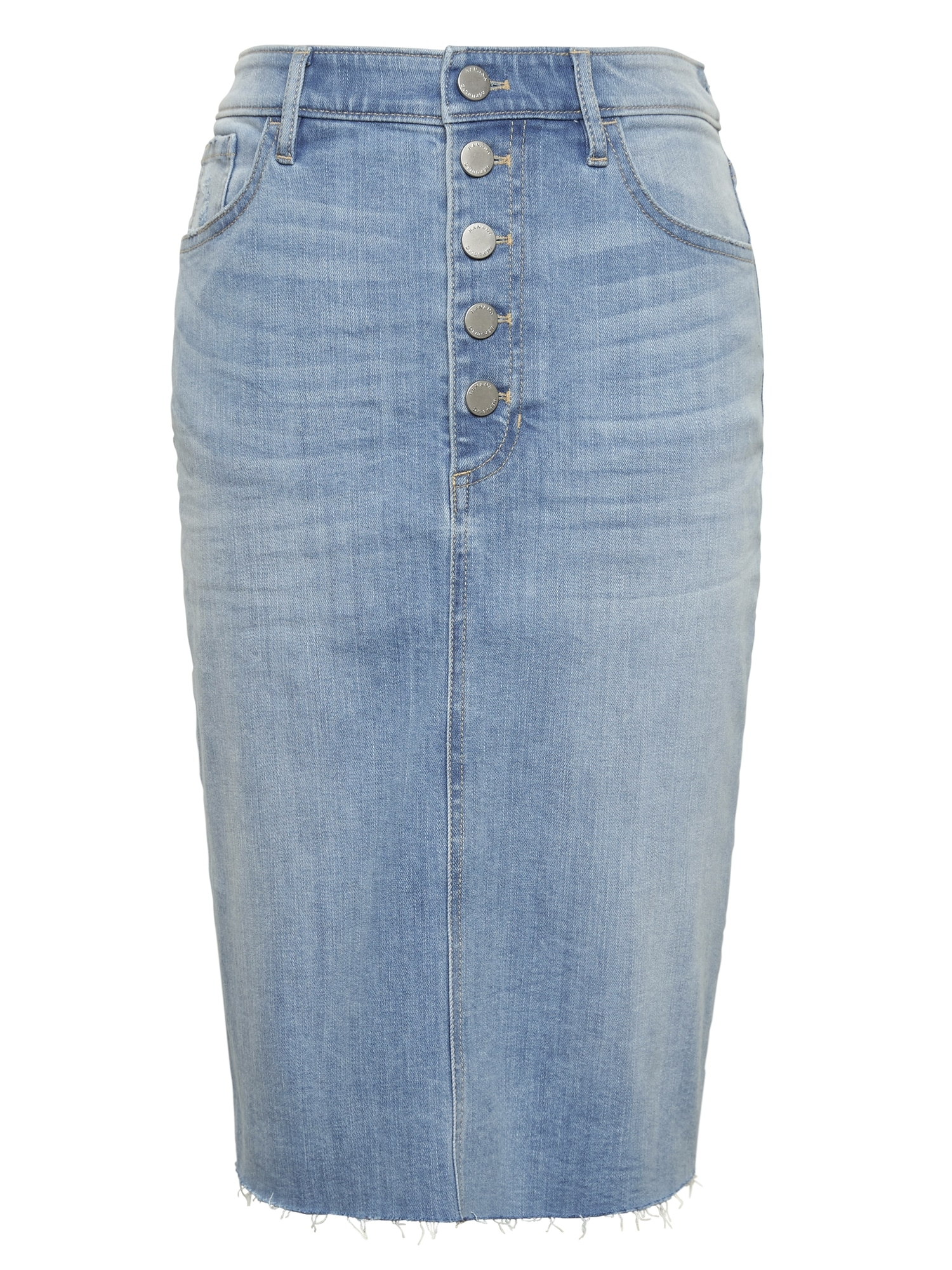 1b3a87c13b Button-Fly Denim Skirt | Banana Republic