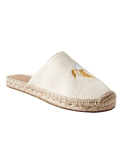 Canvas Espadrille Slide