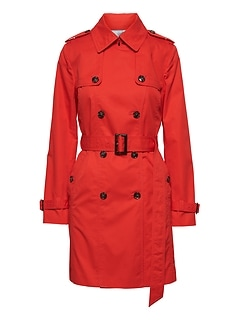 Water-Resistant Classic Trench Coat
