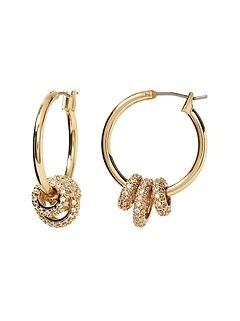 Pavé Rings Hoop Earring