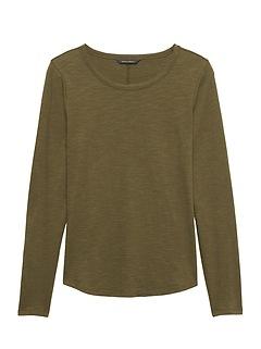 Petite Cotton Modal Long-Sleeve T-Shirt
