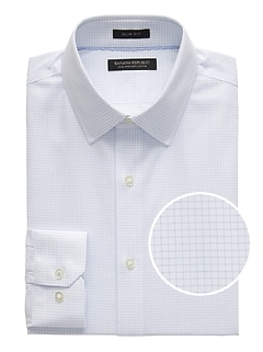 Grant Slim-Fit Non-Iron Grid Dress Shirt