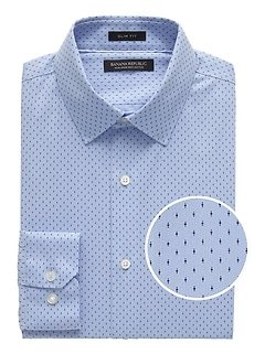 Grant Slim-Fit Non-Iron Print Dress Shirt