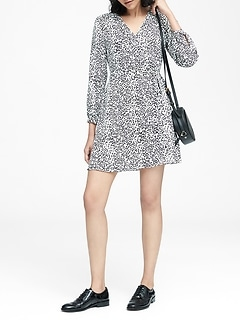Petite Leopard Print Wrap Dress