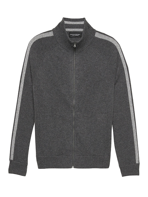 Cashmere Sweater Track Jacket