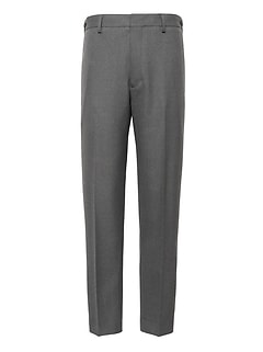 Heritage Slim Tapered Italian Wool Cropped Suit Pant