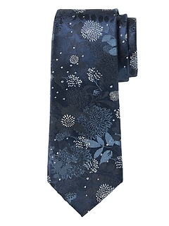 Exploded Floral Silk Nanotex® Tie