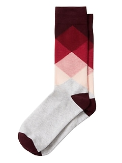 Blocked Argyle Socks