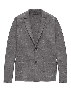 Organic Cotton Sweater Blazer