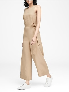 Petite TENCEL™ Cropped Wide-Leg Jumpsuit
