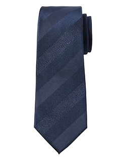Textured Stripe Silk Nanotex® Tie