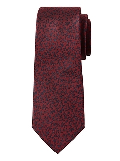 Tossed Floral Silk Nanotex® Tie