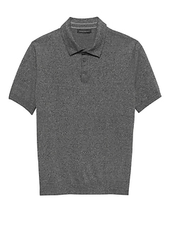 Cotton Cashmere Sweater Polo