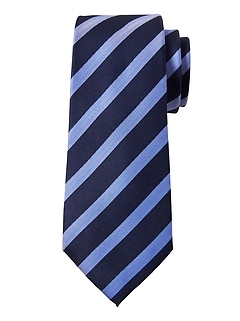 Herringbone Stripe Silk Nanotex® Tie