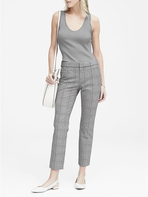 Banana Republic Sloan Skinny-Fit Women's Plaid Pants